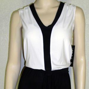 Tiana B. NWT Sleeveless Colorblock Jumpsuit #6127